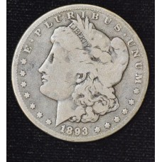 $1 One Dollar 1893 P G6 original gold gray tone