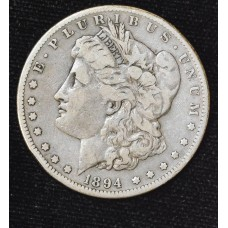 $1 One Dollar 1894 S F12 orig gold gray tone
