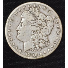 $1 One Dollar 1896 S F12 origianl lt gld tn