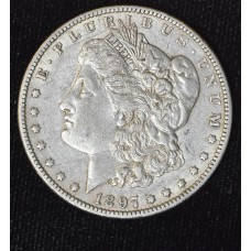 $1 One Dollar 1897 O EF45 plenty of luster