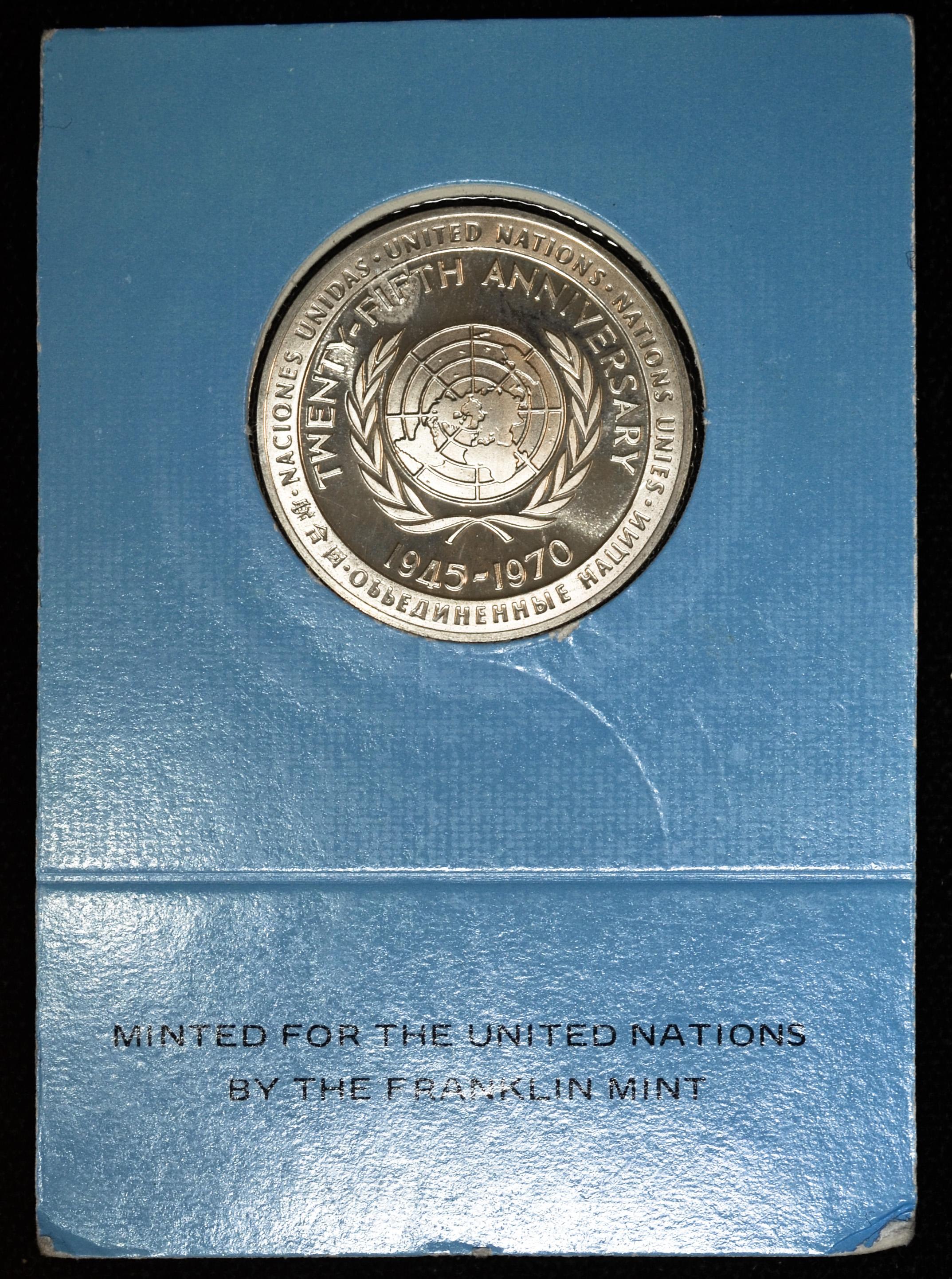 Franklin Mint United Nations Sterling Silver Proof Medal