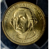 $1 One Dollar 2007 P Pres. MS65 G. Washington 1st Day of Issue PCGS