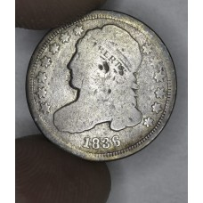10c Cent Dime 1836 G4 lt. grey toning