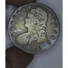 50c Cent 1/2 Half Dollar 1832 VG8 O#113 R2 even rich gldn gry tn
