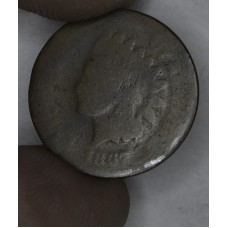 1c One Cent Penny 1867 AG3 couple dark toning lines