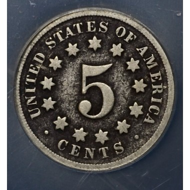 5c Nickel Five Cents 1869 G4 Details NCS Corroded ltly so