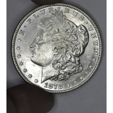 $1 One Dollar 1878 P AU58 Rev. of 78 tons of luster