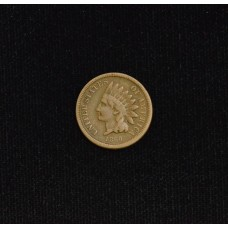 1c One Cent Penny 1860 F15 Broad Bust light tan tone