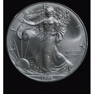 $1 One Dollar 1996 Eagle MS69 ultra frosty; no spots gem