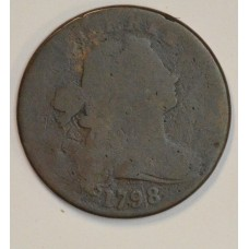1c One Cent Penny 1798 FR2 Rev. of 1797 orig. chocolate tone