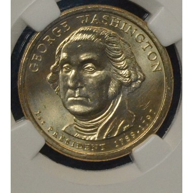 $1 One Dollar 2007 P Pres. MS65 G. Washington NGC 1st Day Issue