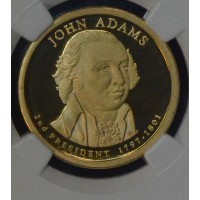 $1 One Dollar 2007 S Pres. PR69 J. Adams NGC Gem