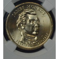 $1 One Dollar 2008 P Pres. MS65 J. Monroe NGC FDI