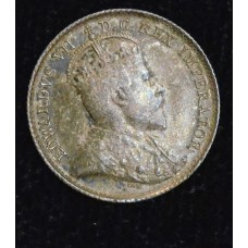 Canada 5c Cents Nickel 1903 AU55 silver KM#2 Edward VII choice