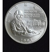 50c Cent 1/2 Half Dollar 1993 W Bill of Rights MS67 James Madison