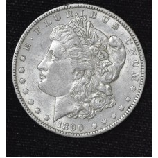 $1 One Dollar 1890 O AU55 lots of luster